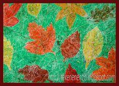Thema herfst: Herfstbladeren (Batik)