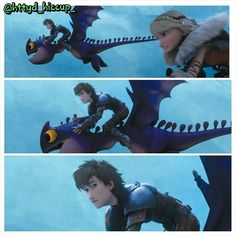 Love this! Notice how Hiccup glanced at Astrid while they're riding baby dragons? lol XD
