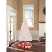 Holiday Time Pre-Lit 6.5' Madison Pine White Artificial Tree, Clear Lights