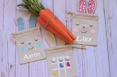 Personalized easter bags perfect for candy or small gifts for easter basket gifts for kids easter basket stuffers easter basket filler easter gifts negle Gallery