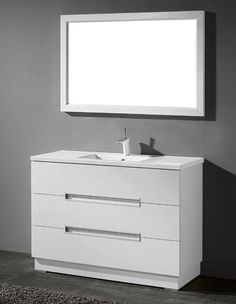 Milano Inch Modern White Cheap Bathroom Vanities Free Standing