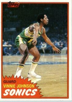 1981/82 Topps Basketball Card # W99 Vinnie Johnson Seattle SuperSonics In A Protective Display Case! by SCORE. $1.39. 1981/82 Topps Basketball Card # W99 Vinnie Johnson Seattle SuperSonics In A Protective Display Case!