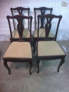 Vanhat tuolit (4 kpl) Dining Chairs, Furniture, Home Decor, Dining Chair, Interior Design, Home Interior Design, Dining Table Chairs, Arredamento, Home Decoration