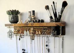 Jewelry Organizer With Shelf Necklace Holder