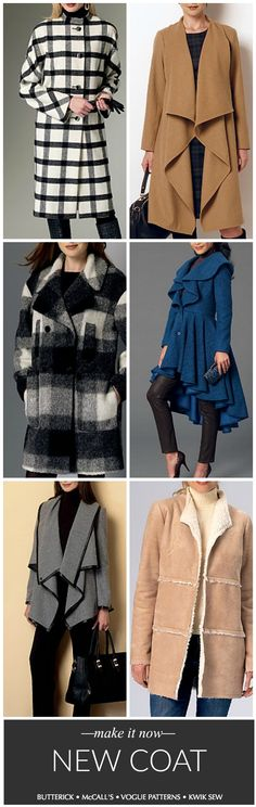 Coats are easier to sew than you think! And they're always less expensive to make than they are to buy. We have lots of coat sewing patterns to choose from.