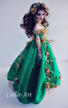 "https://flic.kr/p/ZTwE56   OOAK Tonner Wilde Imagination 18.5"" Evangeline Ghastly Parnilla MSD 1/4 BJD Fashion Clothes ""Entangled Love"" by Collet-Art"