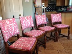 Finished kitchen chairs