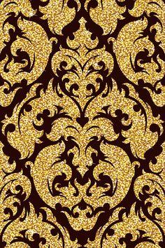 96371477-floral-golden-wallpaper.jpg (339×509)