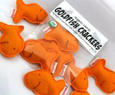 Catnip Goldfish Crackers Wool Felt by misohandmade on Etsy, $15.00
