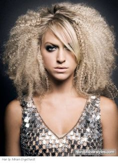 This lovely crimped long hair style allows you to boost the volume of your locks. Apply some texturising clay on your damp locks, blow dry hair and finally start crimping your tresses like a real pro. Disco Hair, Curly Hair Styles, Natural Hair Styles, Avant Garde Hair, Love Your Hair, Hair 2018, Cool Hairstyles, Crimped Hairstyles, Female Hairstyles