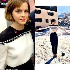 Emma Watson at the HeForShe IMPACT 10x10x10 Parity Report Launch, Davos on…