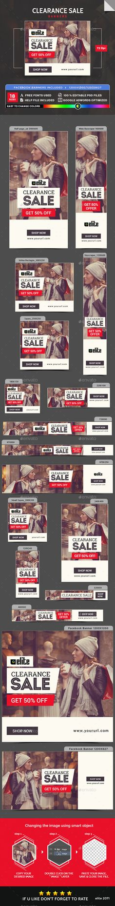 Clearance Sale Banners Template PSD