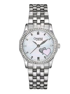 Caravelle by Bulova Women's 43L128 Heart Motive  Watch $99.00