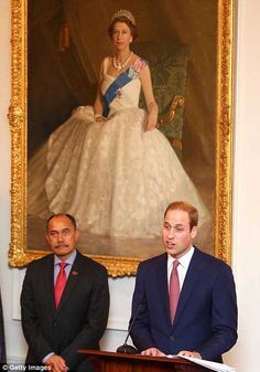 as opposed to the likes of the portrait behind william.