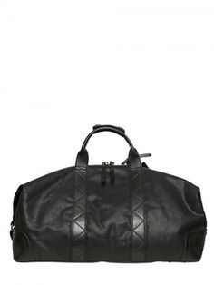 MCQ by Alexander McQueen Waxed Canvas Leather Big Overnight Bag