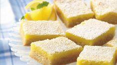 So Easy Lemon Bars Convenient refrigerated sugar cookie dough make quick work of homemade lemon bars. Lime or orange anyone? Lemon Desserts, Köstliche Desserts, Delicious Desserts, Dessert Recipes, Yummy Food, Sweets Recipe, Bar Recipes, Sugar Cookie Dough, Sugar Cookies
