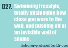 Invisible wall of shame :) It's even worse when that happens at a meat and you get a really slow time because of it!!!