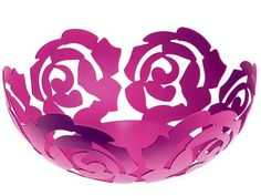 We love Alessi. And we love pink. So when Alessi came up with the La Rosa Fruit Bowl, we swooned just a little...