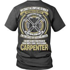 Old School Carpenter Shirt – Mayhem Threads
