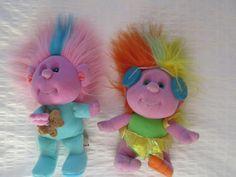 RARE 1989 Playskool Hobnobbins Cousin POP STAR + CATNAP LOT 2 Plush DOLLS