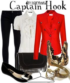 Captain Hook inspired outfit by Disneybound