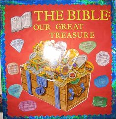 Christian+Bulletin+Board+Ideas | Any treasure chest can be used, and I printed the scriptures directly ...