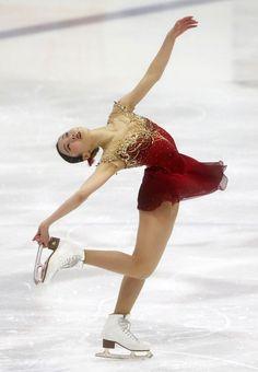 Marin Honda performs her free skate program on Saturday. | AP