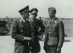 Adolf Galland with Johannes Steinhoff (right).
