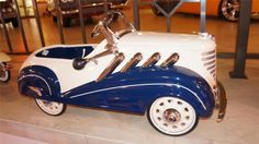 This 1935 'Supercharged' Auburn pedal car by Steelcraft was restored to show quality stand...
