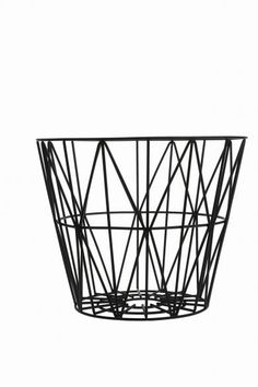 Ferm Living - wire basket, sort M, 499kr