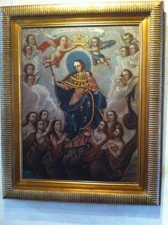 Virgen del Refugio, Ex convento del Carmen, México, D.F, Anónimo novohispano