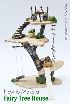 For a quirky Waldorf-inspired uptake on a dollhouse, make a tree fairy doll house for kids from branches, wood and other natural materials!