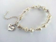 Vintage Style Bridal Bracelet Pearl Bridal by Michelleshandcrafted
