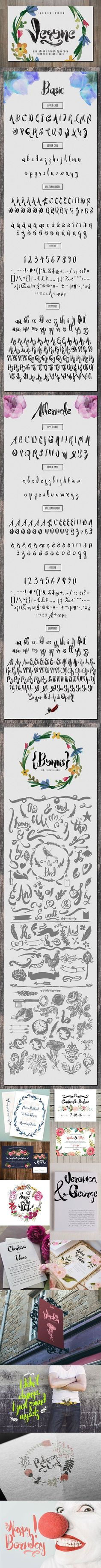 Verone Typeface Verone is a handmade typeface. Brought to give you a sweet, romantic handmade typographic style. Pretty Fonts, Cool Fonts, Romantic Fonts, Otf Font, Mac Os, Lowercase A, Your Design, Signage, Typography
