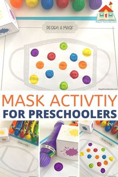 First Day of Preschool Printable Face Mask Activity - Stay At Home Educator