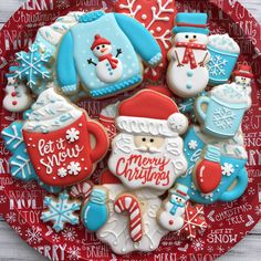 Cookies Decorated Christmas 29 Ideas For 2019 Christmas Sugar Cookies, Christmas Sweets, Christmas Cooking, Noel Christmas, Christmas Goodies, Holiday Cookies, Snowflake Cookies, Christmas Christmas, Christmas Ideas