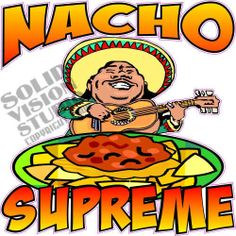 "14"" Nacho Chip Concession Trailer Restaurant Sign Decal"