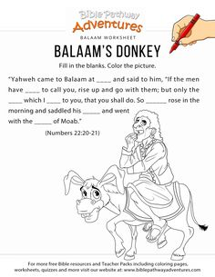 18 Best Bible: Balaam and the Talking Donkey images in