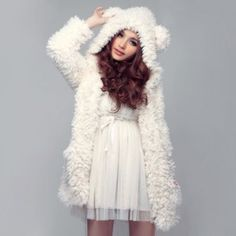 Vestes et manteaux > Veste fourrure Kawaii - Mode japonaise | Mikatani : the asian way of life