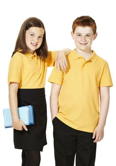 fc132a3279 F amp F School 2 Pack of Unisex Polo Shirts with As New Technology from  Tesco