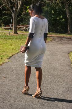 DIY Leather Trim Dress-Beaute' J'adore
