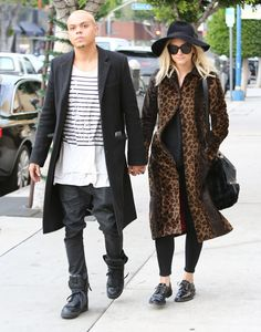 Ashlee Simpson and Evan Ross stepped out in LA on Thursday.