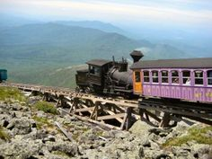 Mount Washington Cog Railway is a great thing to do when in New Hampshire. Get breathtaking views at the summit. http://adaytrip.com/best-things-to-do-in-new-hampshire