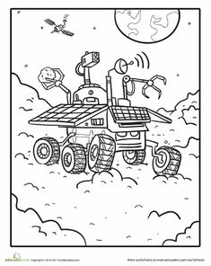 Mars Rover Coloring Page | Education.com