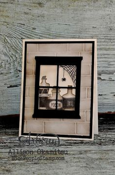 nice people STAMP!: Sweet Hauntings Window Card: Stampin' Up! Artisan Blog Hop