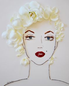 """""Marilyn"""" Flower Face Print"