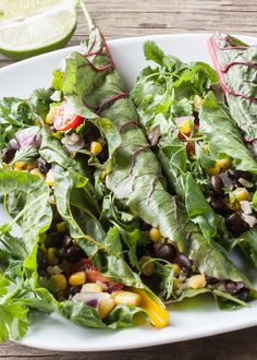 Recipe: Swiss Chard Taco Wraps with Cumin-Lime Sauce — Recipes from The Kitchn