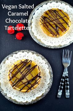 May I Have That Recipe   Vegan Salted Caramel and Chocolate Tartelettes   http://mayihavethatrecipe.com