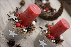"""Vánoční svícen """"Jablíčka s tilandsií"""""""