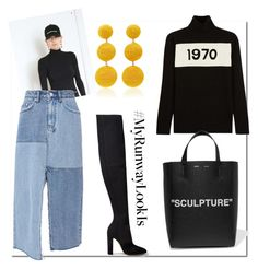 """1970 Sculpture..."" by nfabjoy ❤ liked on Polyvore featuring Bella Freud, Balenciaga, Ksubi, Gianvito Rossi, Off-White, Rebecca de Ravenel and MyRunwayLookIs"